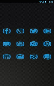 Blue Glow - Icon Pack v1.2