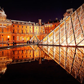 Louvre Museum, Paris, France by Andie Andros - Buildings & Architecture Other Exteriors ( paris, the viewing deck, louvre museum, france )