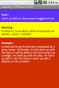 Dictionary of Phrasal Verbs - screenshot thumbnail