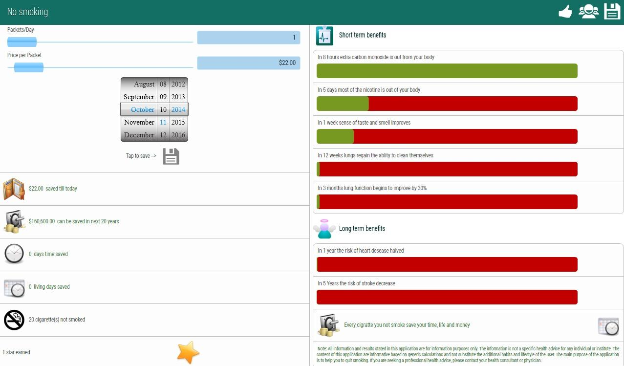 Quit Smoking Planner - screenshot