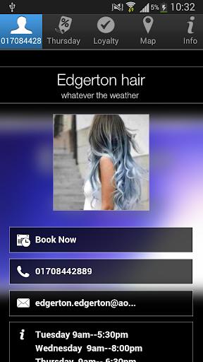 Edgerton hair