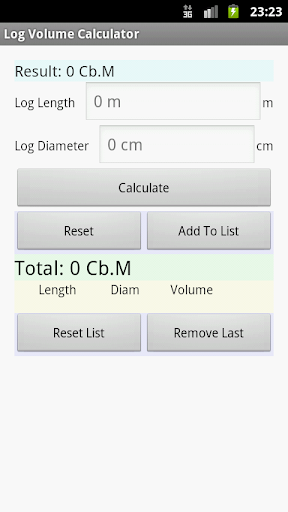 Log Volume Calculator