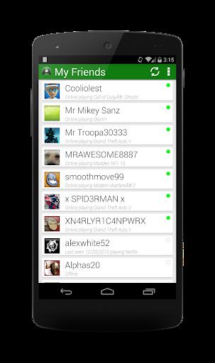 Friends on Xbox