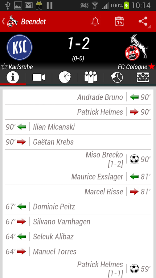 1. FC Köln App - screenshot
