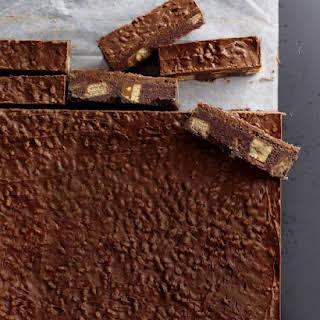 Chocolate-Candy Icebox Bars.