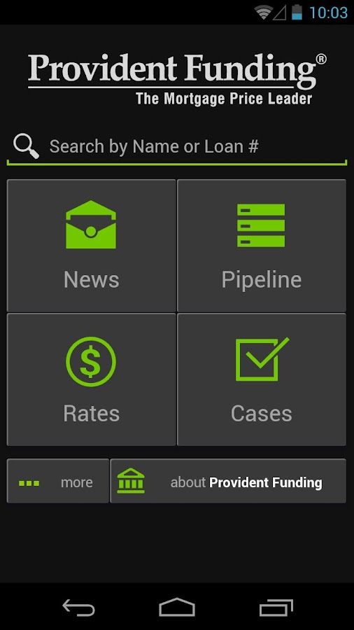 Provident Funding Broker- screenshot