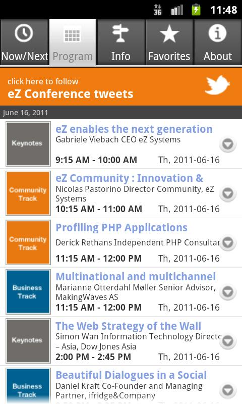 eZ Conference - screenshot