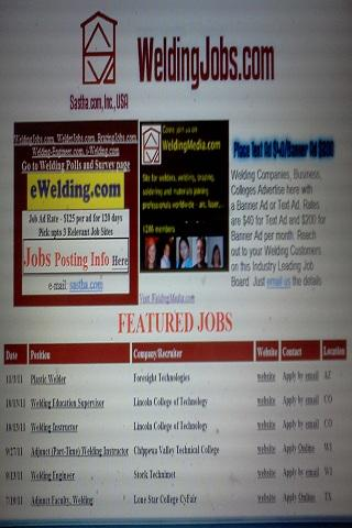 WeldingJobs.com - Welding Jobs - screenshot