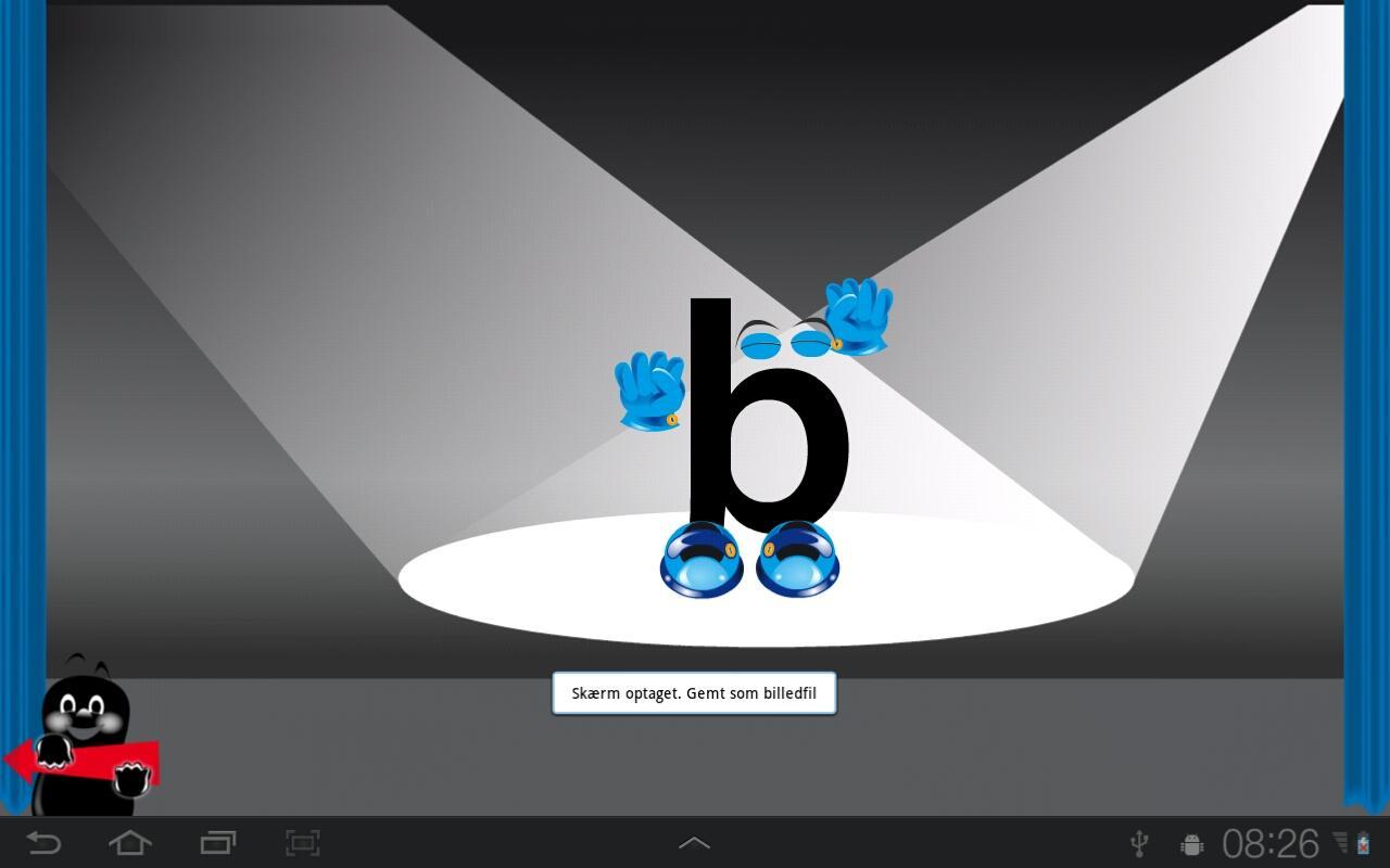 Levande bokstäver– skärmdump
