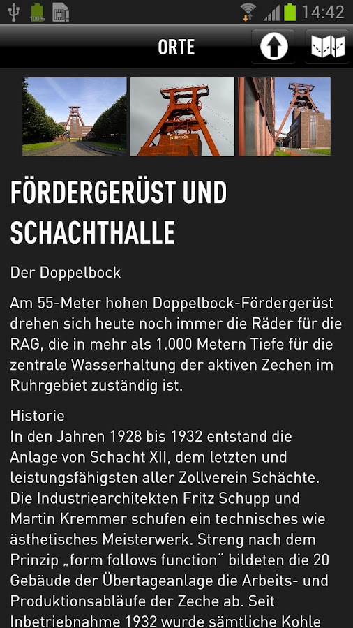 UNESCO-Welterbe Zollverein App- screenshot