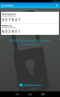 Multi-Factor Authentication - screenshot thumbnail