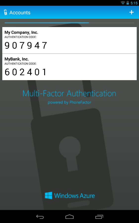 Multi-Factor Authentication - screenshot