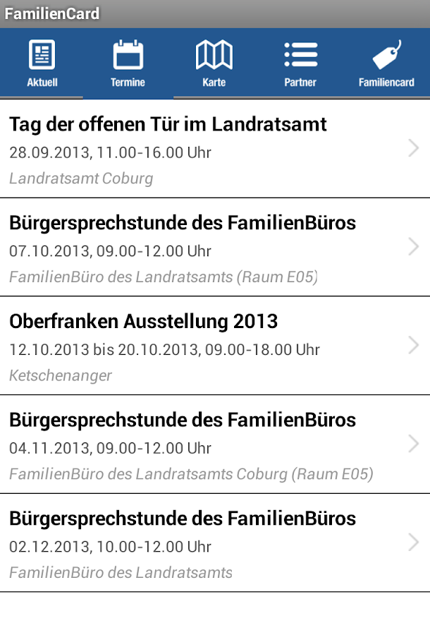 FamilienCard- screenshot