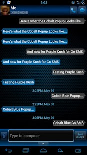 GO SMS Pro Cobalt Blue Theme - screenshot thumbnail