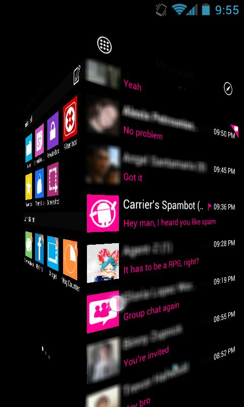GOSMS WP7 Pink Theme Free- screenshot