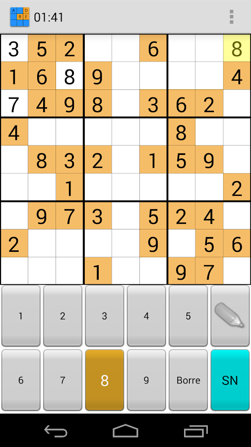 sudoku letters screenshot