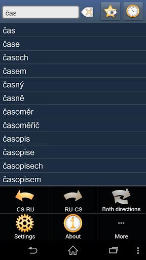 Czech Russian dictionary +