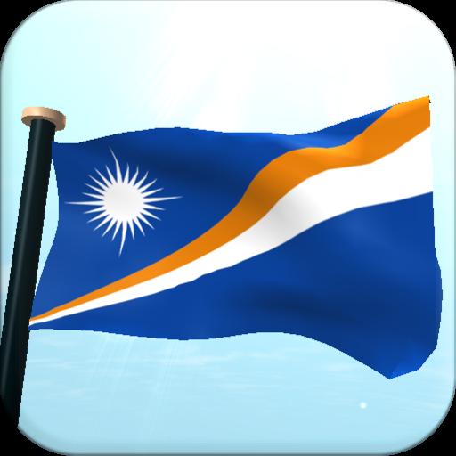 Marshall Islands Flag 3D Free
