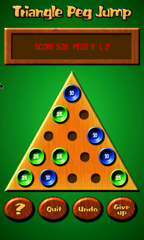 Triangle Peg Jump Puzzle Free- screenshot