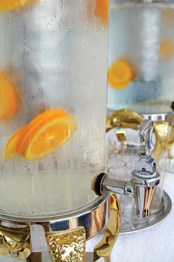Keep hydrated during your weight and cardio workout in the Canyon Ranch SpaClub aboard Oceania Nautica.