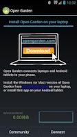 Screenshot of Open Garden: Internet Sharing