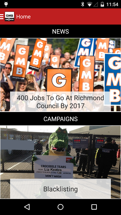 GMB Trade Union- screenshot