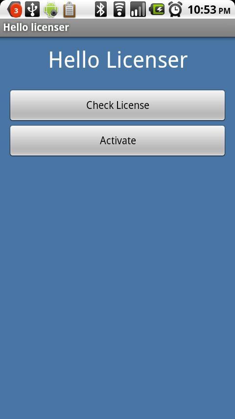 Hello Licenser- screenshot