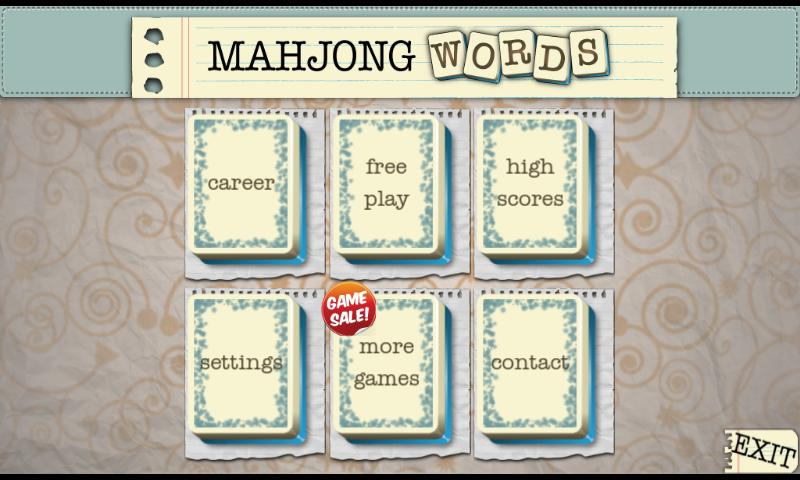 Mahjong Words - screenshot