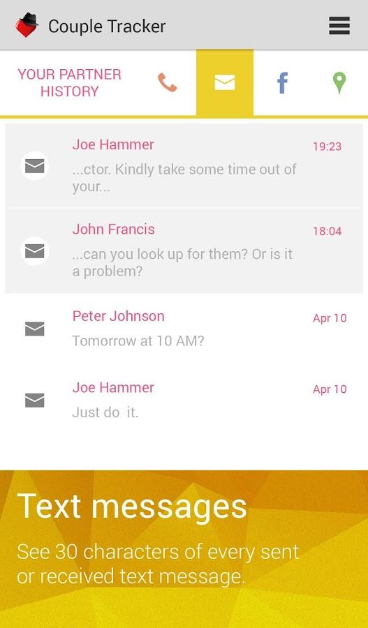 Couple Tracker -Mobile monitor - screenshot