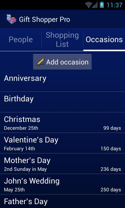 Gift Shopper Pro- screenshot