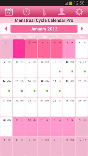 Menstrual Cycle Calendar Free