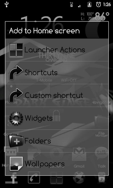 DarkGinger Theme CM7 (FREE)- screenshot