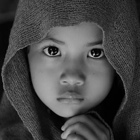 by Yudi Prabowo - Black & White Portraits & People ( child, b&w, people, portrait, emotion, human,  )