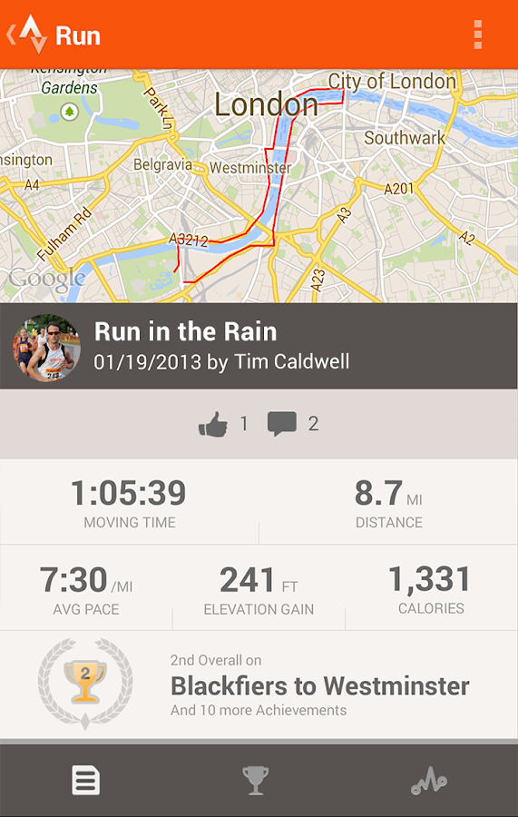 Android Apps: Strava