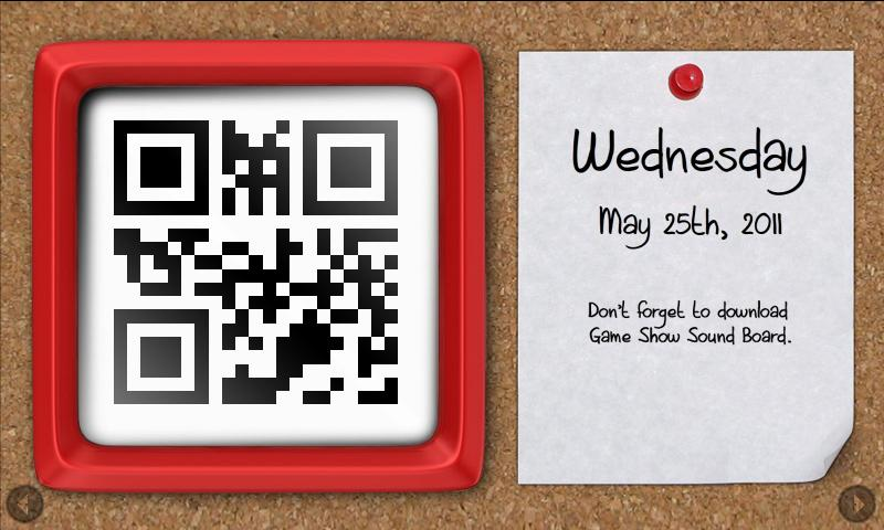 QR Clock - screenshot