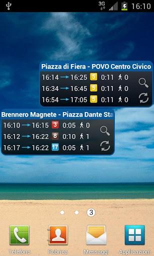 Timetable Trento