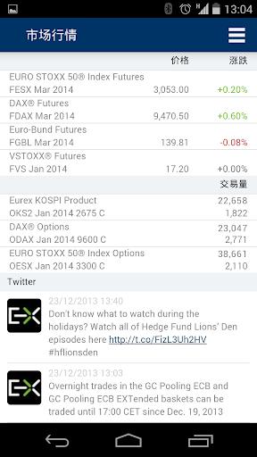 欧洲期货交易所移动应用 Eurex-App