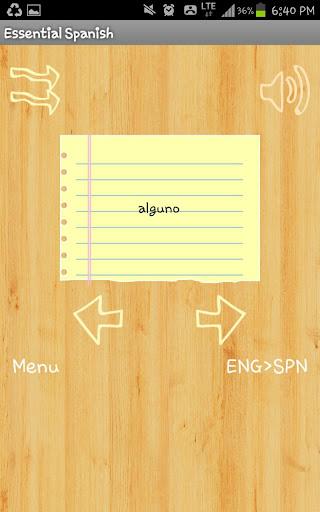 Free Spanish Flashcards