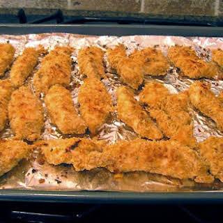 Garlicky Parmesan Corn Flake Baked Chicken Tenders.