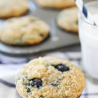 Vegan Banana Blueberry Muffins.