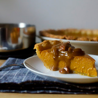 Classic Pumpkin Pie with Pecan Praline Topping