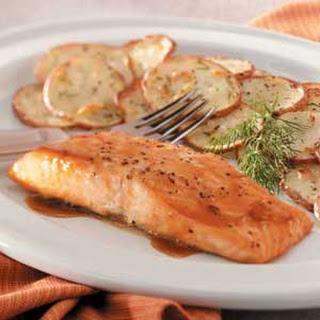 Brown Sugar-Glazed Salmon.