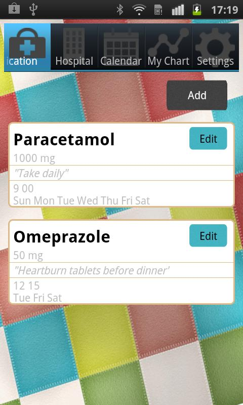 iDiary Meds - screenshot