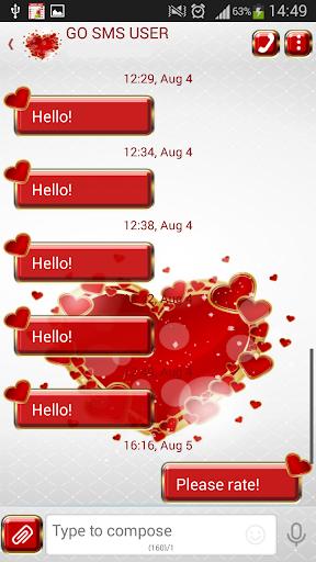 GO SMS Proのスウィートハーツ
