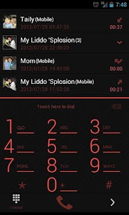 GOContacts Theme Holo Red - screenshot thumbnail