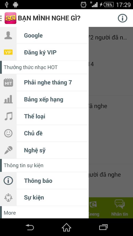 Keeng.vn: Music social network - screenshot