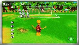 Football Game 3D : Hare VS Turtle Plenty Shoots screenshot for Android
