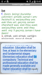 English<->Turkish dictionaries- screenshot thumbnail