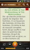 Screenshot of Le Coran. 114 Sourates en MP3