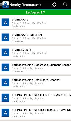Restaurant Grades Southern NV